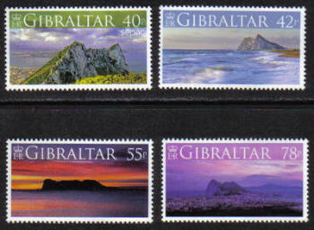 Gibraltar Stamps SG 1236-39 2007 Views - MINT