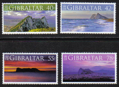 Gibraltar Stamps SG 1236-39 2007 Views - MINT