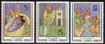 Cyprus Stamps SG 808-10 1991 Christmas - MINT