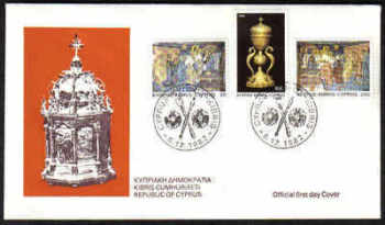 Cyprus Stamps SG 595-97 1982 Christmas - Official FDC (a107)