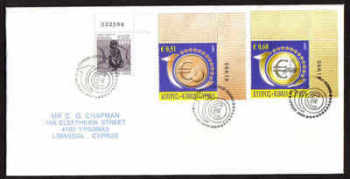 Cyprus Stamps SG 1182-83 2009 10th Anniversary of the Euro - Unofficial FDC (a767)