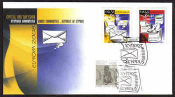 Cyprus Stamps SG 1162-63 2008 Europa the letter - Unofficial FDC (a780)