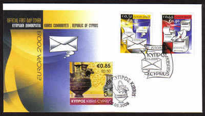 Cyprus Stamps SG 1162-63 and MS 1164 2008 - Unofficial FDC (a776)