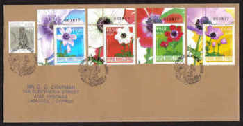 Cyprus Stamps SG 1158-61 2008 Anemone Control numbers - Unofficial FDC (a783)