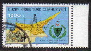 North Cyprus Stamps SG 346 1992 1200TL - CTO USED (g616)
