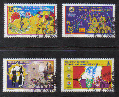 North Cyprus Stamps SG 0614-17 2005 Cultural and Art activities - USED (b09