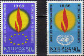 Cyprus Stamps SG 316-17 1968 Human Rights Year - MINT
