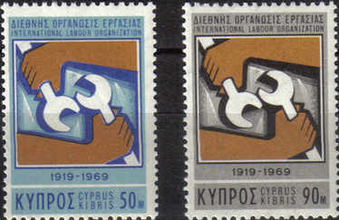 Cyprus Stamps SG 327-28 1969 International Labour Organisation - MLH