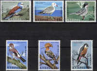 Cyprus Stamps SG 334-39 1969 Birds - MINT