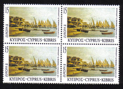 Cyprus Stamps SG 939 1998 15c Europa Festivals - Block of 4 MINT