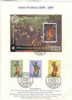 MALTA STAMPS SG 1595-97 2008 Limited Edition folder