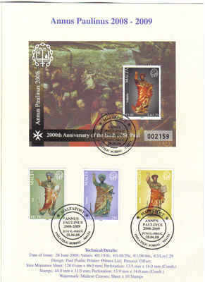 MALTA STAMPS SG 1595-97 2008 Limited Edition folder