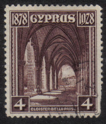 Cyprus Stamps SG 127 1928 4 Piastres - USED (h525) *CLEARANCE*