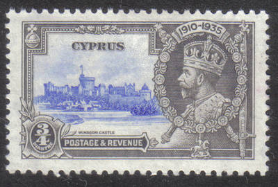 Cyprus Stamps SG 144 1935 3/4 Piastre Silver Jubilee KGV - MLH (h523)