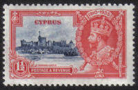 Cyprus Stamps SG 145 1935 One 1/2 Piastre Silver Jubilee KGV - MLH (h522)