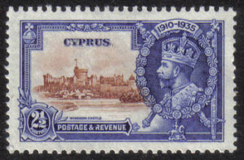 Cyprus Stamps SG 146 1935 Two 1/2 Piastre Silver Jubilee KGV - MLH (h524)