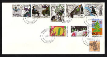 Cyprus Stamps SG 2013 (h) Spanos and the Forty Dragons Childrens stamp and Christmas Issues - Unofficial First day cover (h532)