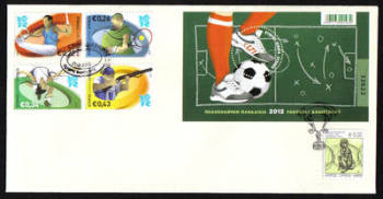 Cyprus Stamps SG 2012 (c) European Football Cup UEFA and London Olympic games - Unofficial FDC (g053)