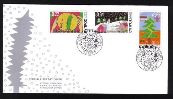 2013 Cyprus Stamps Christmas FDC