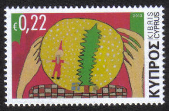 Cyprus Stamps SG 1304 2013 Christmas Noel 22c - MINT