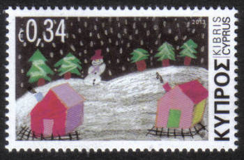 Cyprus Stamps SG 1305 2013 Christmas Noel 34c - MINT