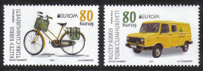North Cyprus Stamps SG 2013 (c) Europa Postal Vehicles - MINT