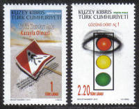 North Cyprus Stamps SG 0757-58 2013 Prevention of traffic accidents - MINT