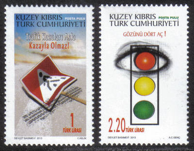 North Cyprus Stamps SG 2013 (b) Prevention of traffic accidents - MINT
