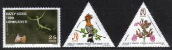 North Cyprus Stamps SG 0761-63 2013 Flora and Fauna - MINT