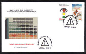 North Cyprus Stamps SG 0757-58 2013 Prevention of traffic accidents - Official First day cover