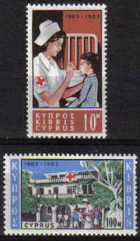 Cyprus Stamps SG 232-33 1963 Red Cross Centenary - MLH