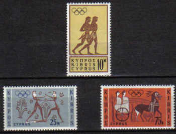 Cyprus Stamps SG 246-48 1964 Tokyo Olympic Games - MLH