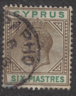 Cyprus Stamps SG 096 1923 Six Piastres - USED (h530)