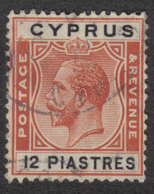 Cyprus Stamps SG 114 1924 12 Piastres - USED (h531)