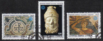 Cyprus Stamps SG 588-90 1982 World Cultural Heritage - USED (h550)