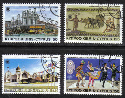 Cyprus Stamps SG 598-01 1983 Commonwealth Day - CTO USED (h553)