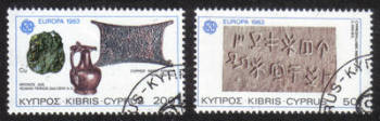 Cyprus Stamps SG 602-03 1983 Europa - CTO USED (h554)