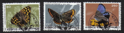 Cyprus Stamps SG 604-06 1983 Butterflies - CTO USED (h555)