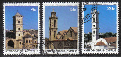 Cyprus Stamps SG 625-27 1983 Christmas - USED (h557)