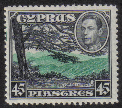 Cyprus Stamps SG 161 1938 45 Piastres - MINT (h548)