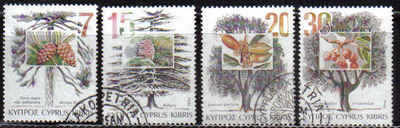 Cyprus Stamps SG 855-58 1994 Trees - USED (b825)