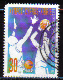 Cyprus Stamps SG 921 1997 Basketball - USED (b857)