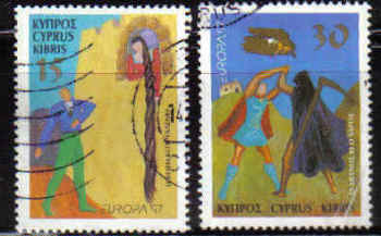 Cyprus Stamps SG 924-25 1997 Europa - USED (b840)