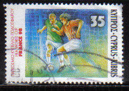 Cyprus Stamps SG 938 1998 Football France World Cup - USED (b842)