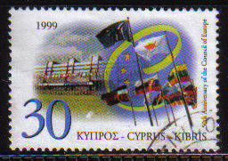 Cyprus Stamps SG 971 1999 Council of Europe - USED (b836)