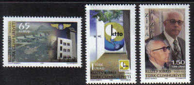 North Cyprus Stamps SG 697-99 2009 Institutions and foundations - MINT