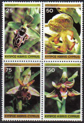 Cyprus Stamps SG 572-75 1981 Wild Orchids - MINT