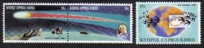 Cyprus Stamps SG 686-88 1986 Anniversaries and events - MINT