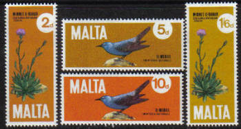 Malta Stamps SG 0456-59 1971 Plants and Birds - MINT