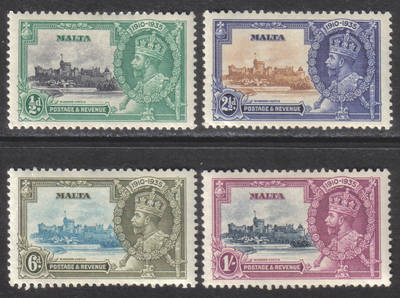 Malta Stamps SG 0210-13 1935 Silver Jubilee - MLH (h577)